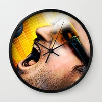 u2 Wall Clocks featuring Bono from U2 by Storm Media