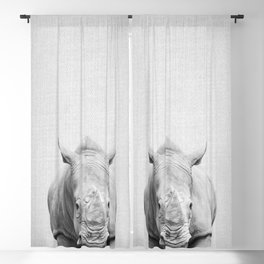 Rhino 2 - Black & White Blackout Curtain