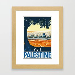 Vintage Travel Poster-Palestine Framed Art Print