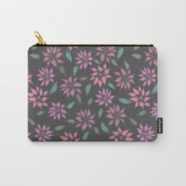 Dark Winter Floral Carry-All Pouch