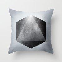 sacred geometry Throw Pillows featuring Sacred Geometry Three by Richard Seyb