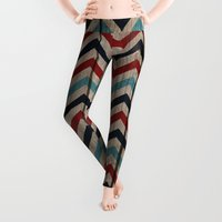 patriotic Leggings featuring Patriotic Wood texture #4 by Juliana RW
