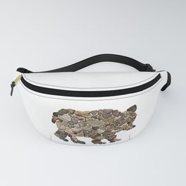 Heart Rock Grizzly Bear Fanny Pack