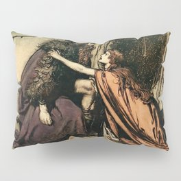 """""""Father, Father, What Ails Thee"""" by Arthur Rackham Pillow Sham"""