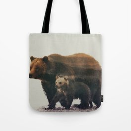 Grizzly & Cub Tote Bag