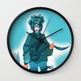 fashionable woman Wall Clock