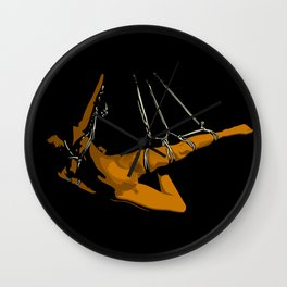 The hanging girl II Wall Clock