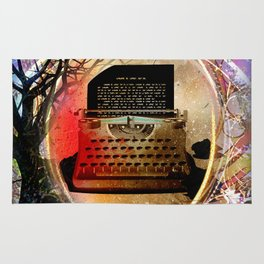 Typewriter Fairytale Rug