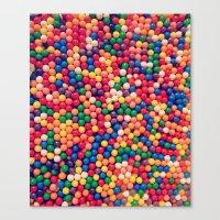 gumball Canvas Prints featuring Gumball Pop by WayfarerPrints