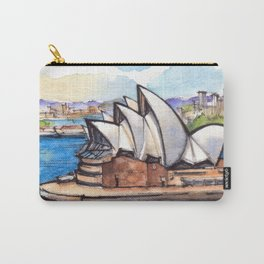 Sydney Australia ink & watercolor illustration Carry-All Pouch