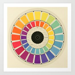 Color Wheel Spinner Art Print