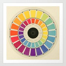 Color Wheel Spinner Art Print