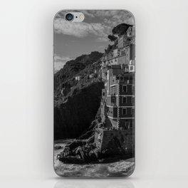 Cinque Terre black and white iPhone Skin