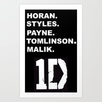 one direction Art Prints featuring One Direction by amy.