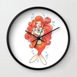 Goldfish Mermaid Wall Clock
