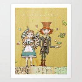How Strange It Is - Alice in Wonderland Art Print
