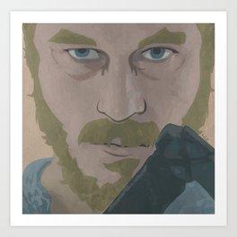 Ragnar Lothbrok from Vikings Art Print