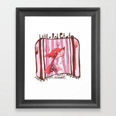 Little Red Potato Framed Art Print