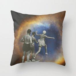 Taking the plunge Throw Pillow