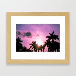 PINK(skies) Framed Art Print