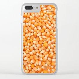 Popcorn maize Clear iPhone Case