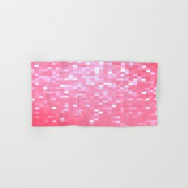 Bubblegum Pink Pixel Sparkle Hand & Bath Towel
