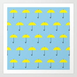 HIMYM Yellow Umbrella Art Print