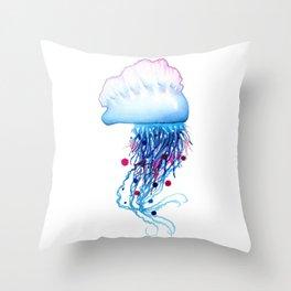 Manowar Jellyfish Throw Pillow