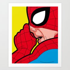 The secret life of heroes - A Very big Spiderbogie Art Print