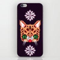 lil bub iPhone & iPod Skins featuring Lil Bub Geometric Pattern by chobopop