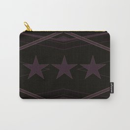 Dark Purple Abstract Star Pattern Carry-All Pouch