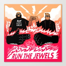 Run Them Jewels Fast Canvas Print