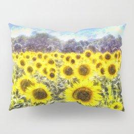 Sunflower Fields Of Summer Dreams Pillow Sham
