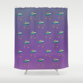 We Come in Pizza Shower Curtain