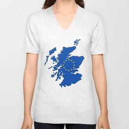 Scotland in EU Unisex V-Neck