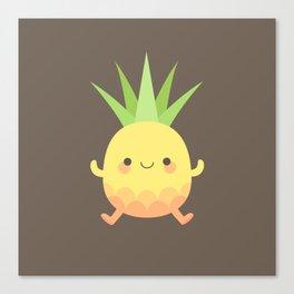 Happy pineapple kids Canvas Print