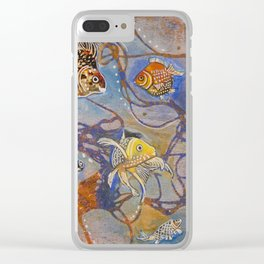 Connecting Goldfishes Clear iPhone Case