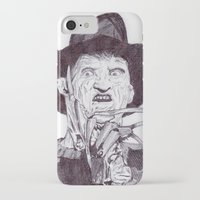 freddy krueger iPhone & iPod Cases featuring krueger by DeMoose_Art