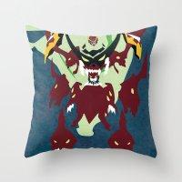 gurren lagann Throw Pillows featuring TENGEN TOPPA GURREN LAGANN by JHTY