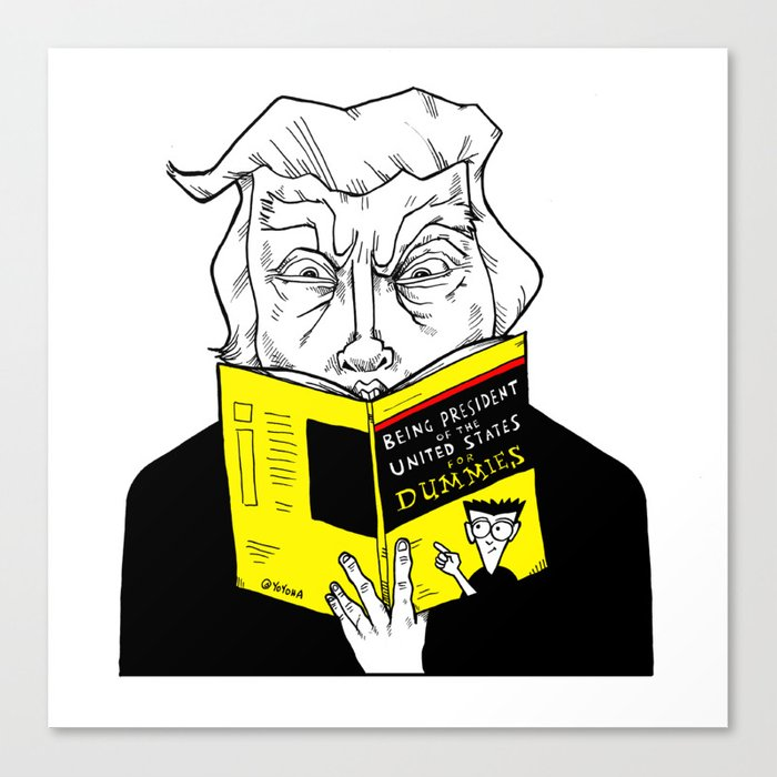 Being President for Dummies Canvas Print