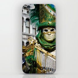Traditional Venetian carnival costume at the San Marco Square iPhone Skin
