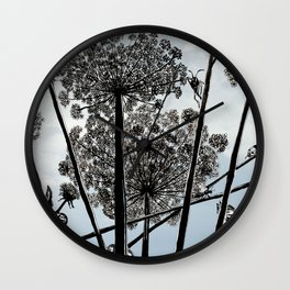 Queen Anne's Lace from a bug's view Wall Clock