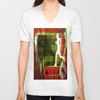 running V-neck T-shirts featuring Running by Robin Curtiss