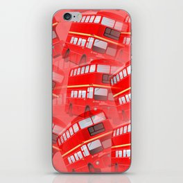 Red London Buses iPhone Skin