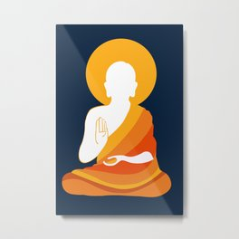 Lord Buddha Illustration Metal Print