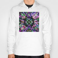 tie dye Hoodies featuring Colorful Tie Dye Abstract by Phil Perkins