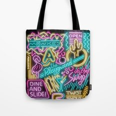 Neon Playground Tote Bag