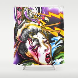 Geishas Nightmare Shower Curtain