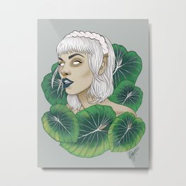 The Leaf Elf Metal Print