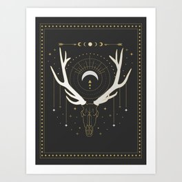Moon Deer Art Print